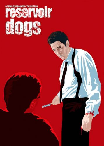 1990's Movie - RESERVOIR DOGS -MR BLONDE RED ART canvas print - self adhesive poster - photo print